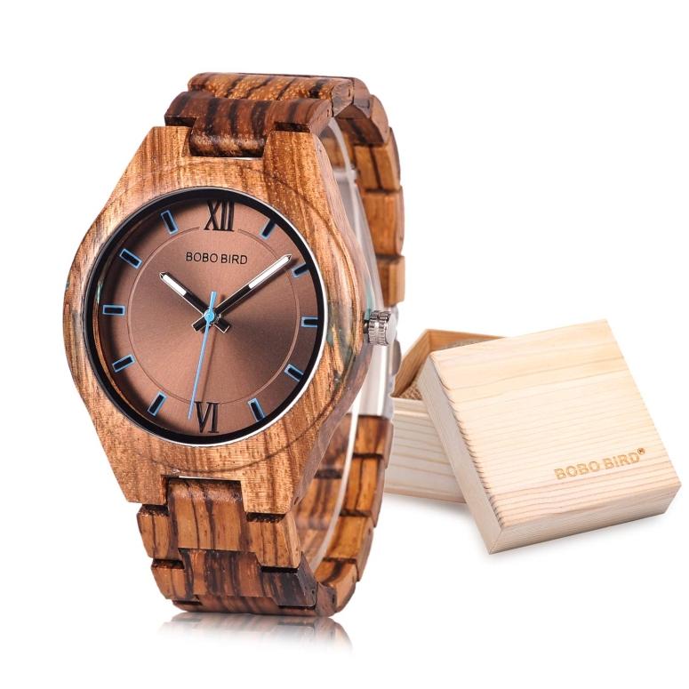 【即納】 ボボバード BOBO BIRD ウッドウォッチ 木製腕時計 男性用 腕時計 メンズ ウォッチ ブラウン Q05 送料無料 【並行輸入品】