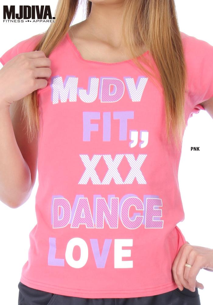 MJDIVA◆DANCE-LOVEストレッチピタTEE