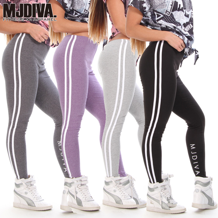 MJDIVA: MJDIVA ◇ side 2 line color variations leggings