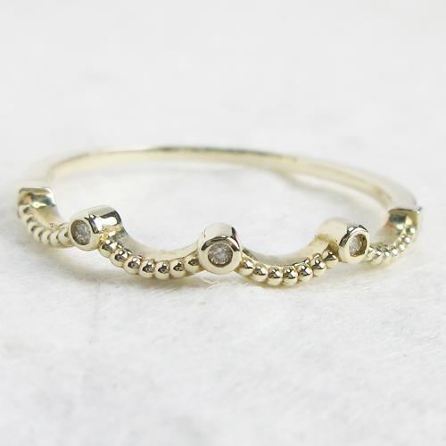 【Viange】 ダイヤモンド アンティーク調 リング 指輪 品質保証書 K18 18金 K10 10金