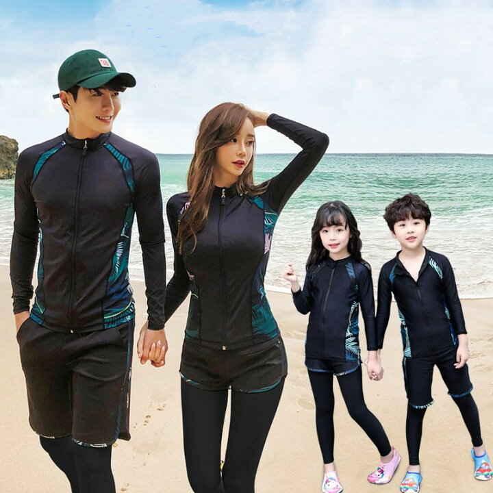 新しい 水着 長袖 売り込み カップル 女性 屋外 速乾性 日焼け止め サーフィンダイビングスーツ 男性 本物