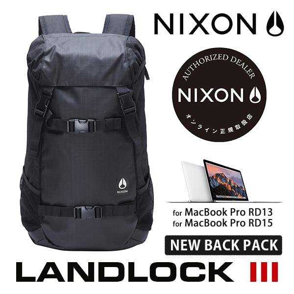 【今ならポイント10倍中】 【送料無料(沖縄は+900円)】ニクソン ランドロック NIXON Landlock Backpack III (Black) C2813 000 メンズ レディース リュック デイパック 通学
