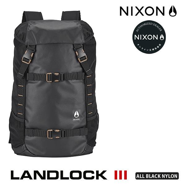 【今ならポイント10倍中】 【送料無料(沖縄は+900円)】ニクソン ランドロック デイパック NIXON Landlock Backpack III (ALL BLACK NYLON) C2813 1148 メンズ レディース リュック 通学