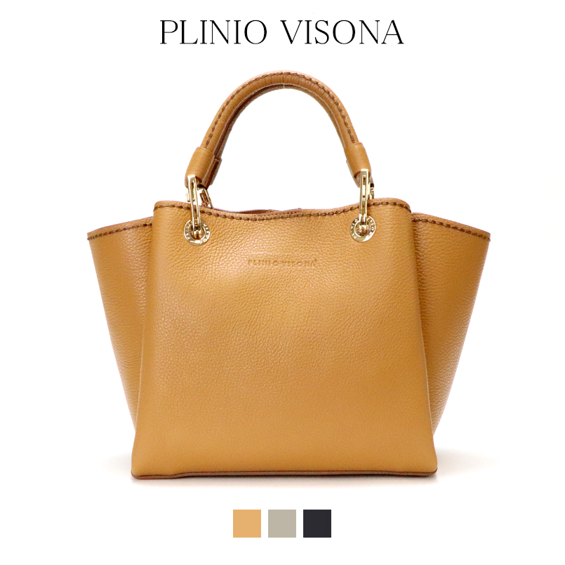 PLINIO VISONA プリニオヴィソナイタリアイタリアバッグ genuine leather cowhide shoulder bag tote  bag 2way sense of quality regular article cb813e4aa71