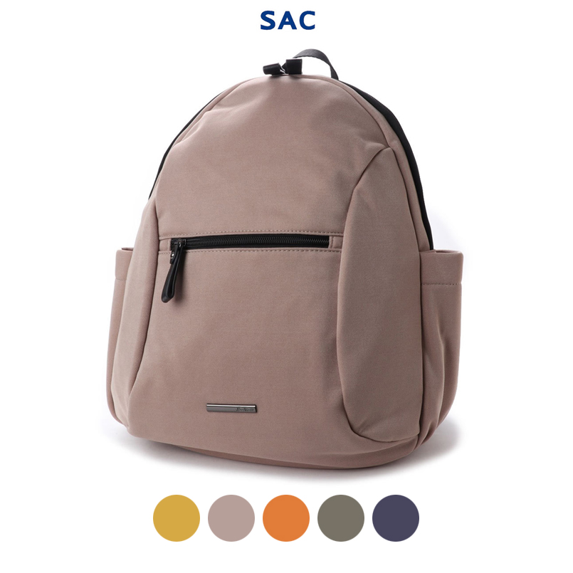 0005818ac5e2 Functional daily plain fabric size grain size commuting attending school  round backpack with large-capacity rucksack A4 A4 case SAC Micah mon ...
