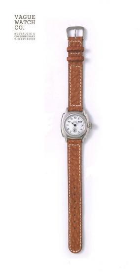 VAGUE WATCH CO.腕時計 ヴァーグウォッチ COUSSIN レザーベルトウオッチ ブラウン メンズ 社会人 仕事 ビジネス