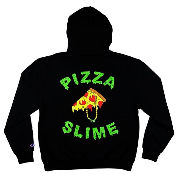 セール PIZZA SLIME パーカー フーディー プルオーバー ピザスライム ブラック 黒ギャングロゴカラーパーカー GANG HOODIE BLACK メンズ レディース ユニセックス