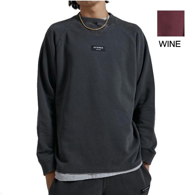 AFENDS アフェンズ スウェット トレーナー 長袖 SOCIETY メンズ NEW ARRIVAL レディース ユニセックス ストリート ブラック ワイン CREW UNISEX RAGLAN 黒 営業 送料無料 2カラー 送料込み価格 NECK