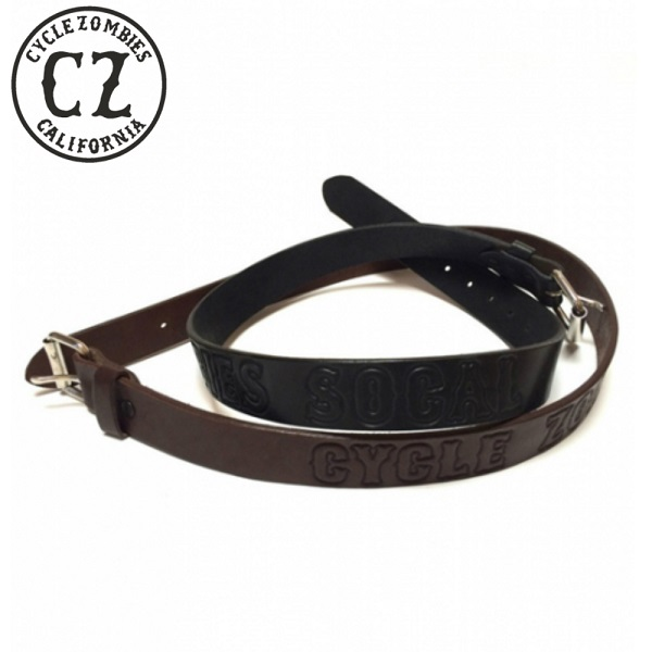 CycleZombies レザーベルト ブラック 黒 ブラウン 茶色 2カラー サイクルゾンビーズ GOTH LEATHER BELT S/M L/XL 2サイ展開