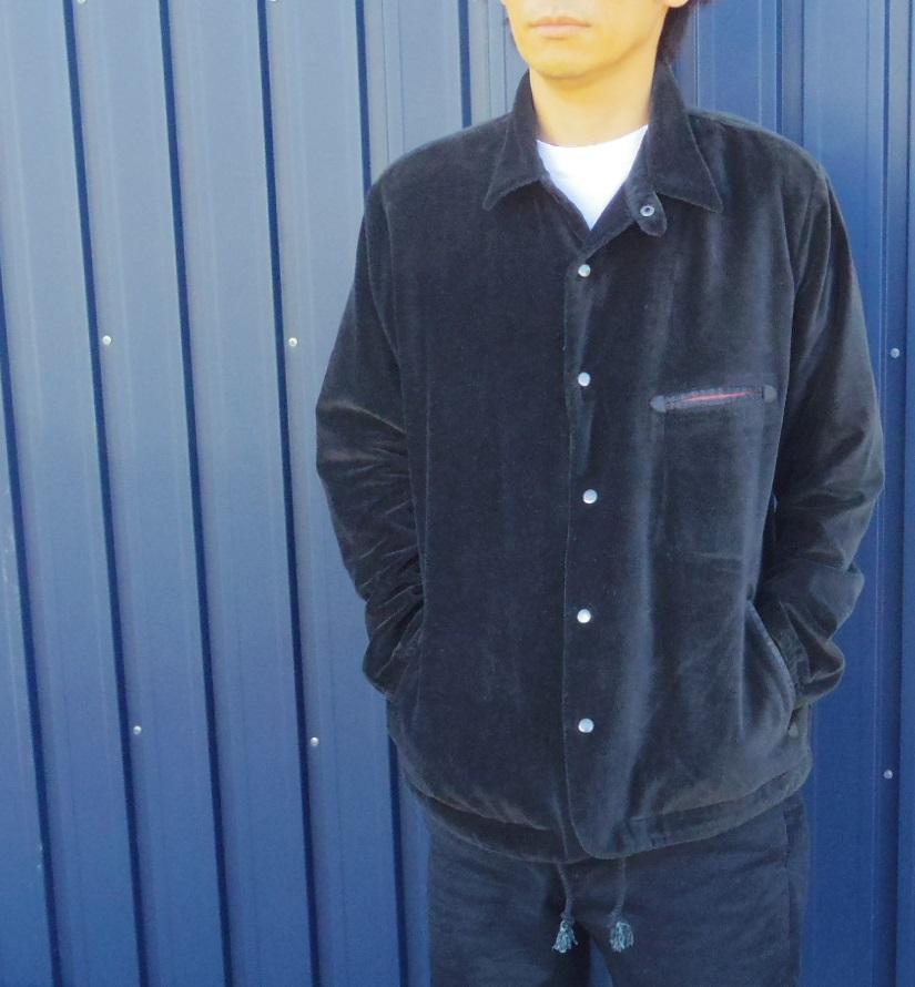 セール Slow Hands ベロア コーチジャケット ブラック 黒 スロウハンズ VELVET COACH JACKET BLACK メンズ レディース ユニセックス st9