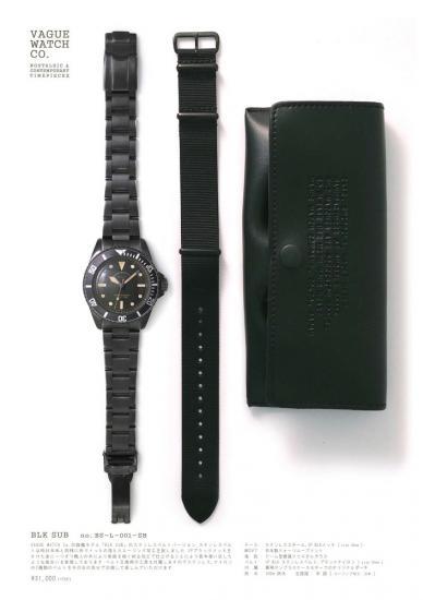 VAGUE WATCH 腕時計 BLK SUB SB ヴァーグウオッチ ブラックサブSB ステンレスベルト ブラックメッキ メンズ