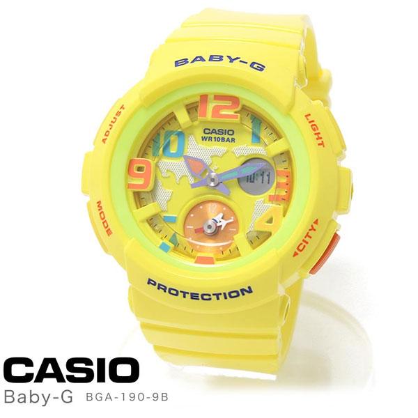 カシオ 腕時計 レディース 逆輸入モデル CASIO Baby-G 時計 ラバー BGA-190-9B