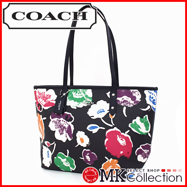 Trainer City ZIP Tote Women's COACH bag Wildflower print F37266 SVF98 0824 Rakuten card Division 02P01Oct16