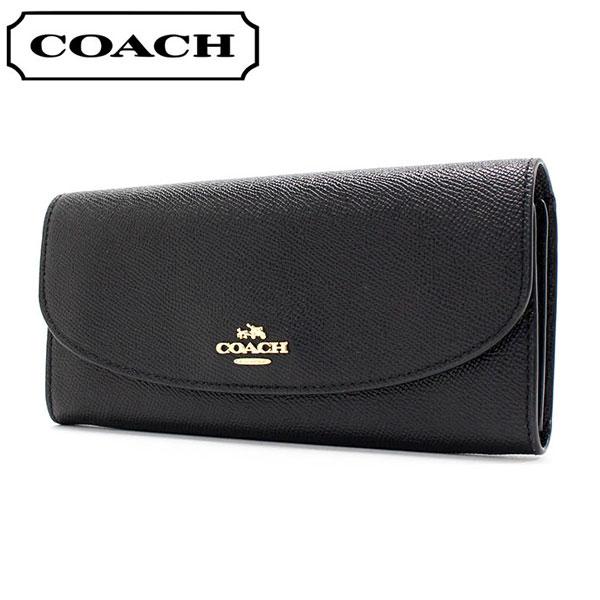 コーチ 長財布 レディース COACH Wallet ブラック F54009 IMBLK 【送料無料♪】