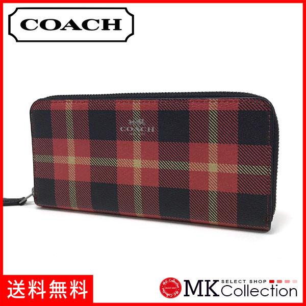 new style f81d3 1c227 italy coach plaid wallet e84c8 7bd2d