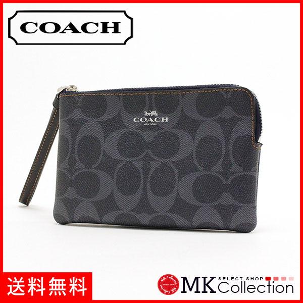 教练门女士COACH Wallet粗斜纹布F57996 SV/DE