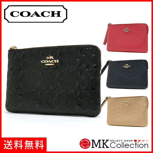 Coach porch Lady's COACH accessory black F58034 IMBLK