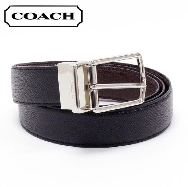 ef0d676c7838 MKcollection  Coach belt men COACH reversible belt black   brown F59116 AQ0
