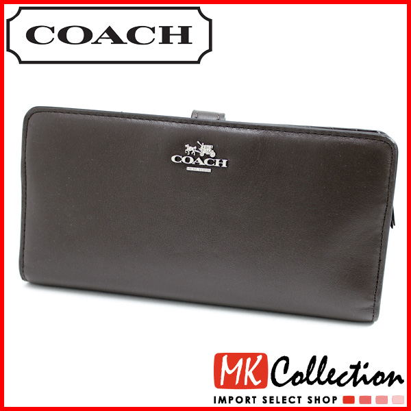 Smart phone entry only 3 / 21 up to 9:59 coach purse Womens COACH Wallet outlet Madison leather skinny Brown 51936 SVMIK