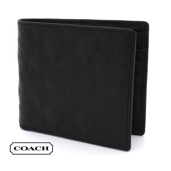 コーチ 財布 メンズ レディース アウトレット COACH Wallet ブラック 74179 BLK 【当店全品送料無料♪】【あす楽】