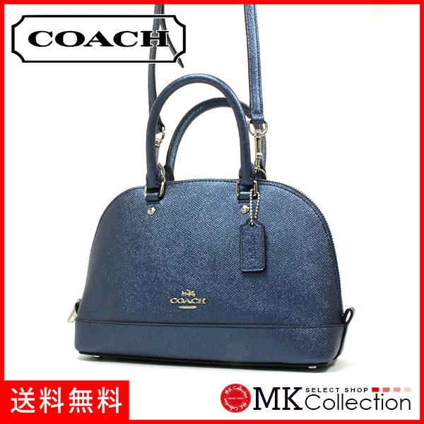 46da3557eabd ... cheapest coach shoulder bag ladys coach handbag metallic navy f22315  svlbi 28330 d40f2