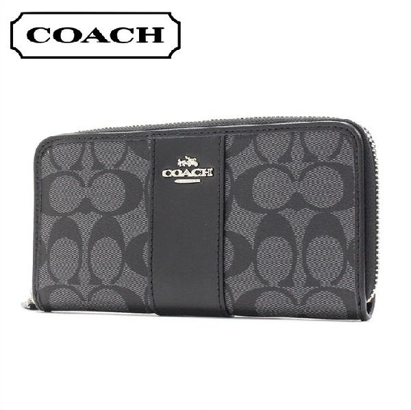 コーチ 長財布 レディース COACH Wallet ブラックスモーク×ブラック F54630 SVDK6 【送料無料♪】【あす楽】