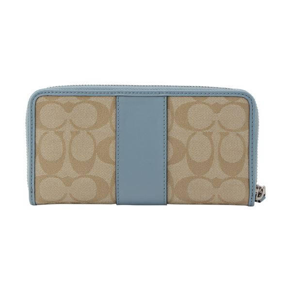 buy popular 3b845 0e1c0 Coach long wallet Lady's COACH Wallet signature light khaki / coneflower  F54630 SVCA0