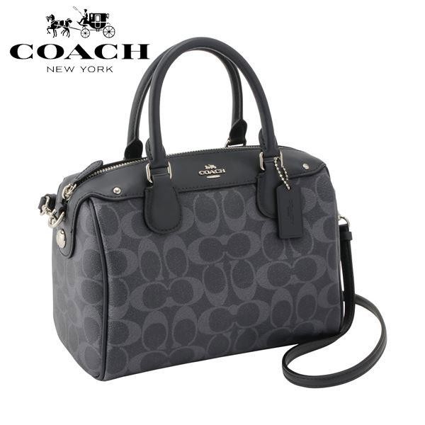 be818702f5679 Coach shoulder bag Lady's COACH mini-Boston 2way signature F57672 SVDE2 ...