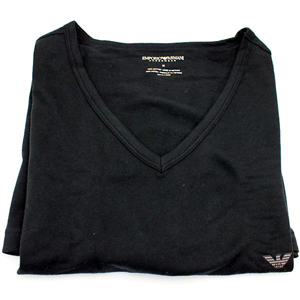 商场阿玛尼 V 脖子 T 衬衫男装商场阿玛尼 3 双黑色 110856 CC712 00020
