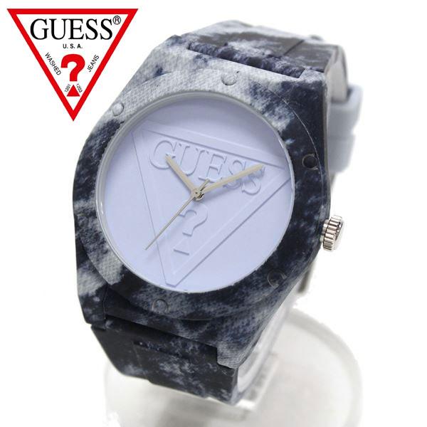 ゲス 腕時計 メンズ レディース GUESS ブルー デニム柄 時計 ユニセックス 男女兼用 W0979L14 【送料無料】