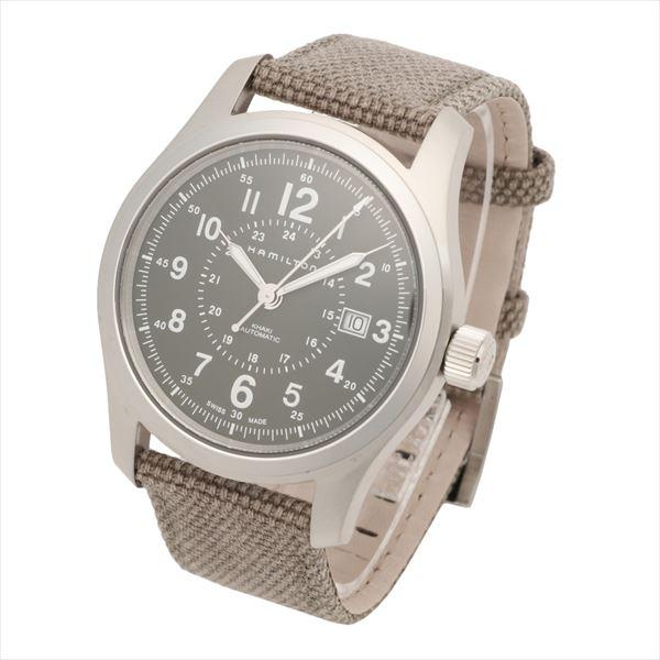 ハミルトン 腕時計 メンズ HAMILTON カーキ フィールド グリーン 時計 レザー H70605963 【送料無料♪】