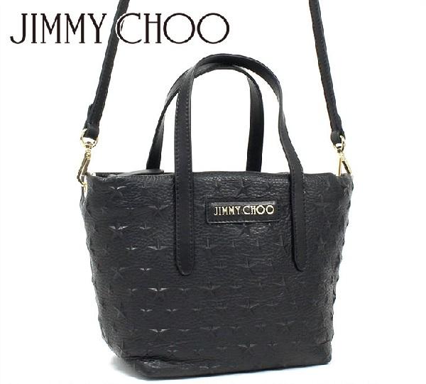ジミーチュウ ショルダーバッグ レディース JIMMY CHOO 2way トートバッグ ブラック MINISARA EMG 153 BLACK 【送料無料♪】【あす楽】