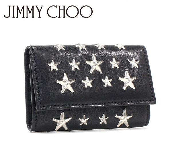 ジミーチュウ キーケース メンズ レディース JIMMY CHOO Key Case NEPTUNE CST BLACK 【送料無料♪】【あす楽】