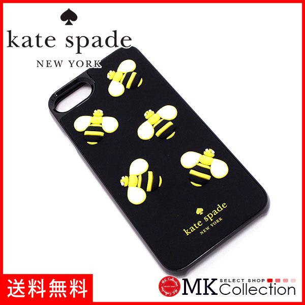 凯特黑桃智能手机情况手机覆盖物智能手机情况KATE SPADE iPhone case HYBRID SNAP ON CASE黑色×3D蜜蜂WIRU0495-001