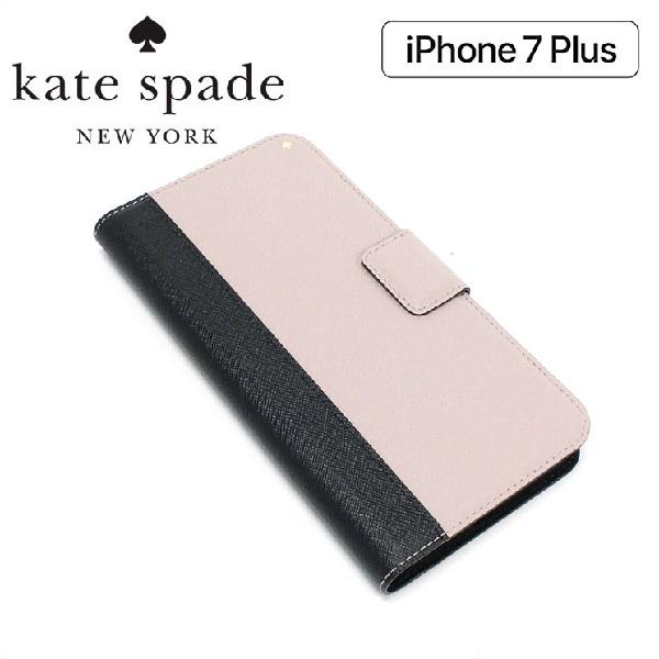 【お買い物マラソンSALE価格!】 ケイトスペード スマホケース レディース iphone7 Plus Kate Spade Smartphone Case ブラック×アーモンド WIRU0649 013 【当店全品送料無料♪】
