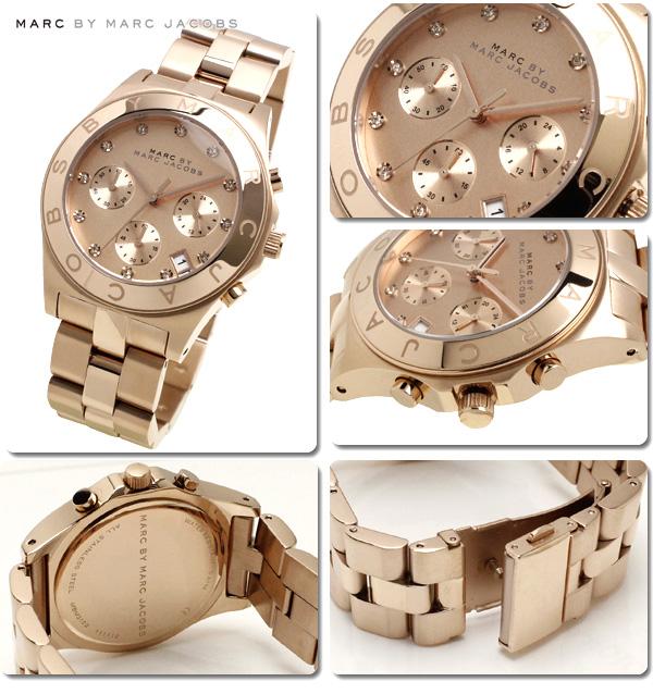 mkcollection rakuten global market marc by marc jacobs watches marc by marc jacobs watches mens womens blade chrono pg rose mbm3102