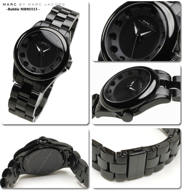 mkcollection rakuten global market marc by marc jacobs watches marc by marc jacobs watches mens ladies bubble all black mbm3113