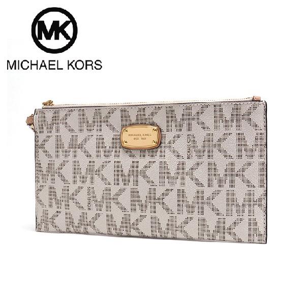 迈克尔套餐离合器袋女士MICHAEL KORS bag香草35H2GJSW3B VANILLA