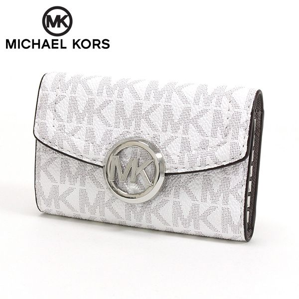 マイケルコース キーケース レディース MICHAEL KORS key case ホワイト 35S0SFTP5B BRIGH 【送料無料♪】