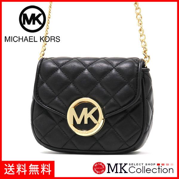 迈克 • 柯尔回妇女的 MICHAEL KORS 富尔顿被子小瓣斜挎包黑色 35S6GFQC1L-黑色