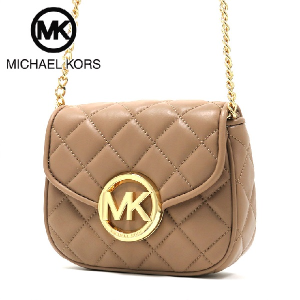 Michael Kors back women's MICHAEL KORS FULTON QUILT SMALL FLAP CROSSBODY DARK KHAKI 35S6GFQC1L-DKKH