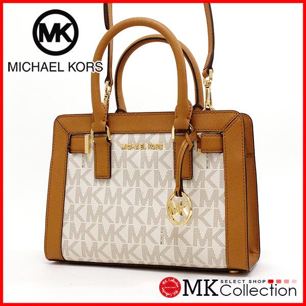 邁克爾套餐手提包女士MICHAEL KORS BAG香草35T7GAIS1B VANILLA/ACORN