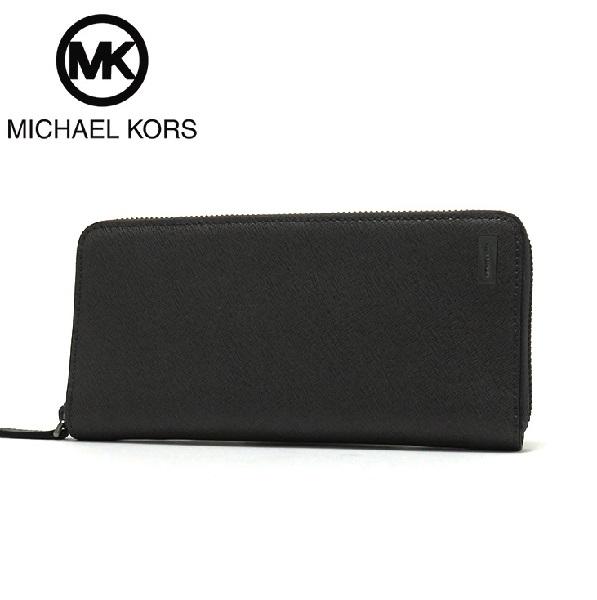 e01da1db7980 Michael Kors long wallet men MICHAEL KORS Wallet ANDY TECH ZIP AROUND  BLACK/ black 36T6SANE3L