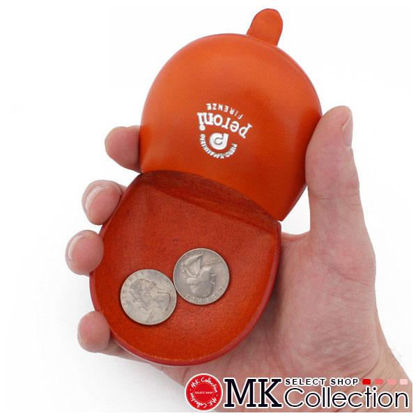 ペローニ コインケース メンズ レディース PERONI coin case ART594 ORANGE レザー 594