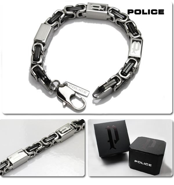 Police POLICE bracelets accessory 24654bsb01 0824 Rakuten card splitter 02P01Oct16