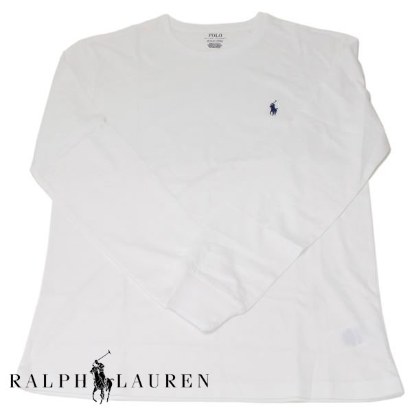ポロ ラルフローレン ロングTシャツ メンズ ホワイト POLO by Ralph Lauren クルーネック ロンT ワンポイント 【送料無料♪】