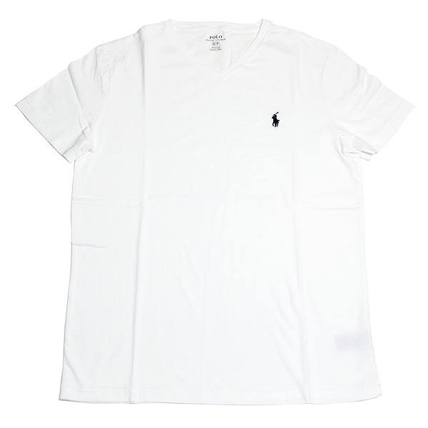 79cf599e2 ... Ralph Lauren T-shirt men short sleeves POLO RALPH LAUREN V neck one  point white ...