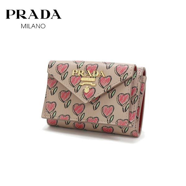 プラダ 三つ折り財布 レディース PRADA Wallet VITELLO MOVE LOVE CIPRIA 1MH021 2CI3 F0236 【送料無料♪】