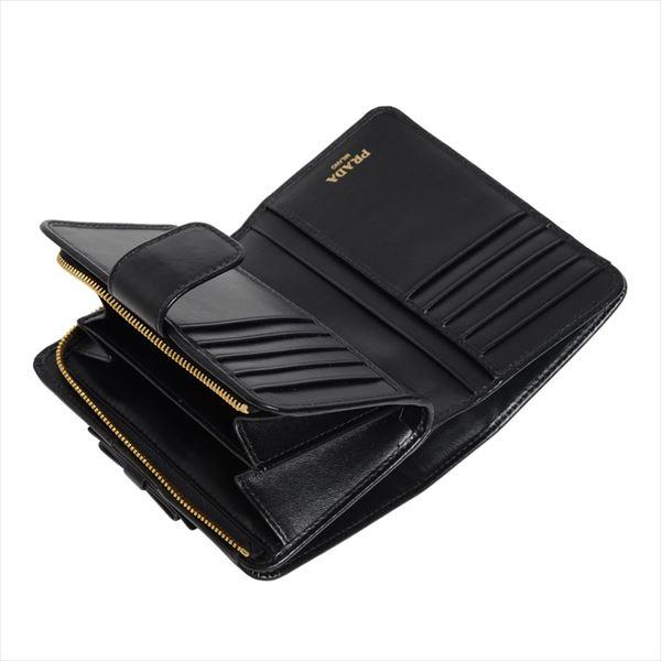 プラダ 二つ折り財布 レディース PRADA Wallet NERO ブラック 1ML225 2B32 F0002 【♪】
