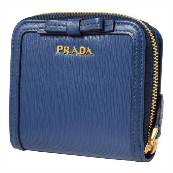 プラダ 二つ折り財布 レディース PRADA Wallet BLUETTE 1ML522 2B32 F0016 【当店全品送料無料♪】